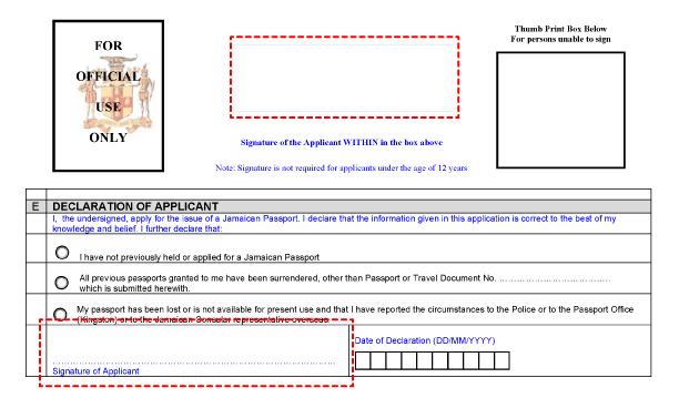 Signing The Application Form Consulado De Jamaica